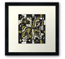 Brown abstract pattern Framed Print