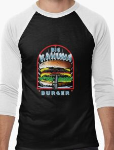 "Big ""KAHUNA"" Burger On Sesame Dark Men's Baseball ¾ T-Shirt"