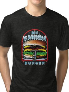 "Big ""KAHUNA"" Burger On Sesame Dark Tri-blend T-Shirt"