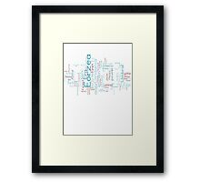 Final Fantasy XIV Word Cloud Framed Print