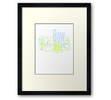 Breath of Fire II Word Cloud Framed Print