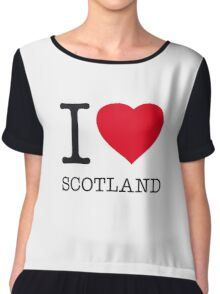 I ♥ SCOTLAND Chiffon Top