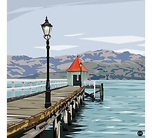 Akaroa Wharf, New Zealand by Ira Mitchell-Kirk Photographic Print