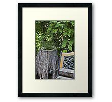 Kinky Grass - Tree Planter  Framed Print