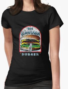"Big ""KAHUNA"" Burger - Distressed Variant Womens Fitted T-Shirt"