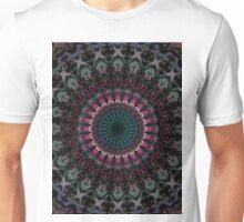 Mandala with fuchsia accets Unisex T-Shirt