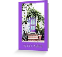 Invitation Greeting Card - Street Garden Greeting Card