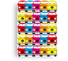 Campervan Multi Abstract No.1 Canvas Print