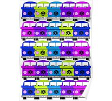 Campervan Multi Abstract No.2 Poster