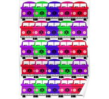 Campervan Multi Abstract No.3 Poster
