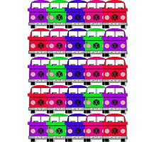 Campervan Multi Abstract No.3 Photographic Print