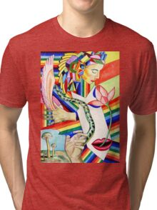 The Serpent and the Rainbow girl Tri-blend T-Shirt