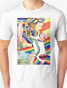 The Serpent and the Rainbow girl Unisex T-Shirt