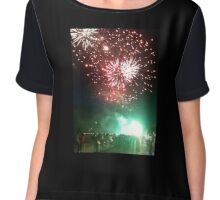 Fireworks Display Chiffon Top