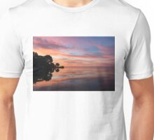Colorful Morning Mirror - Spectacular Sky Reflections at Dawn Unisex T-Shirt
