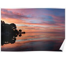 Colorful Morning Mirror - Spectacular Sky Reflections at Dawn Poster