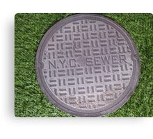 NYC sewer Canvas Print