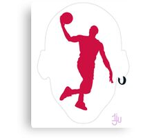 Basketball Icon Dunk CHI1 Canvas Print