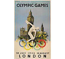 Vintage 1948 London Summer Olympics Poster Photographic Print