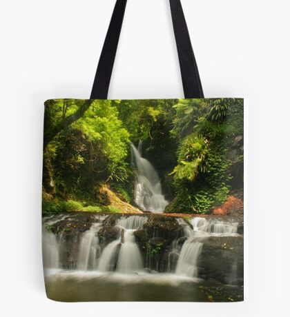 Golden sunlight at Elabana Falls Tote Bag