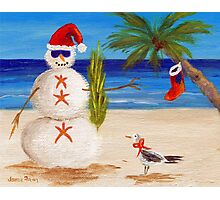 Christmas Sandman Photographic Print