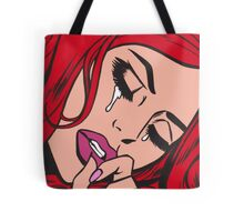 Red Hair Crying Comic Girl Tote Bag