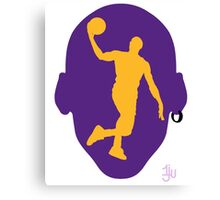 Basketball Icon Dunk LA Canvas Print