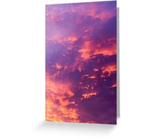 Dramatic red cloudscape at sunset.  Greeting Card