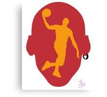 Basketball Icon Dunk MIA Canvas Print
