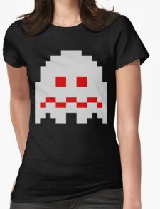 Scared Ghost Womens Fitted T-Shirt