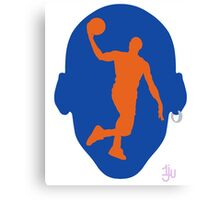 Basketball Icon Dunk NY Canvas Print