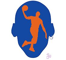 Basketball Icon Dunk NY Photographic Print