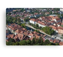 City of Ljubljana, Slovenia. Canvas Print