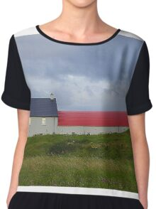 The Red Roofed Barn Chiffon Top
