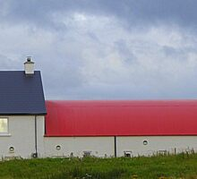 The Red Roofed Barn Sticker