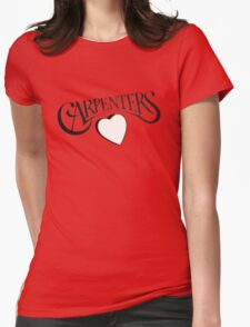Carpenters 1972 classic album logo design  Womens Fitted T-Shirt