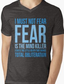 Litany Against Fear (short) Mens V-Neck T-Shirt