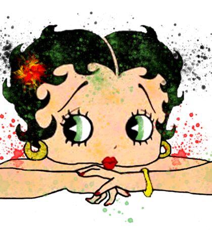Betty Boop Watercolor Art Sticker