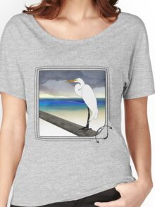 American Great Egret Women's Relaxed Fit T-Shirt