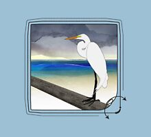 American Great Egret Womens Fitted T-Shirt