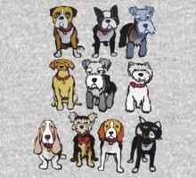 Cutout DOGS One Piece - Long Sleeve