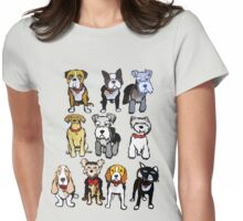 Cutout DOGS Womens Fitted T-Shirt