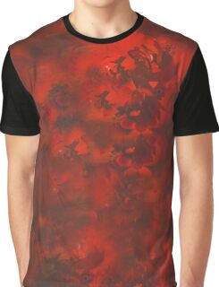 Red and Black Mystery Graphic T-Shirt