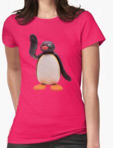 pingu waving Womens Fitted T-Shirt