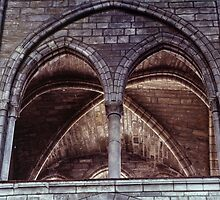 Arches in Clerestory Cathedral Notre Dame en Vaux France 198405060084 by Fred Mitchell
