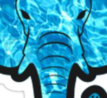 True Blue Water Elephant Sticker