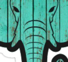 Wood Board Elephant Sticker