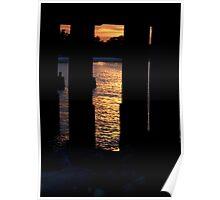 Sunset Under the Loop Bridge Poster