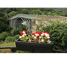 Ironbridge with Blooms. Photographic Print