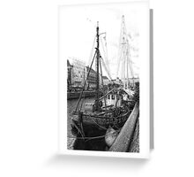Moored Sail Greeting Card